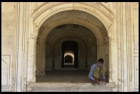 Digital photo titled deeg-water-palace-kid-in-doorway