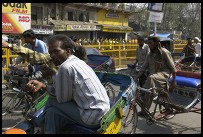 Digital photo titled bicycle-rickshaws-on-chandni-chowk