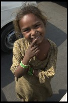 Digital photo titled red-fort-beggar-girl