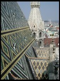 Digital photo titled stephansdom-roof-plus-city