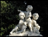 Digital photo titled three-cherubs-sunlit