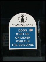 Digital photo titled seamens-bank-dog-sign