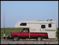 Digital photo titled truck-camper-red
