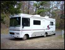 Digital photo titled winnebago-sightseer-in-forest