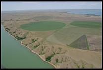 Digital photo titled missouri-river-aerial-2