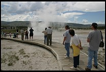 Digital photo titled geyser-spectators-3