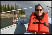 Digital photo titled kyle-on-lake-yellowstone-2
