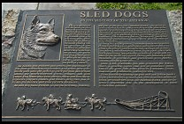 Digital photo titled sled-dogs-plaque