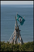 Digital photo titled peace-flag-on-beach-2