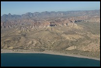 Digital photo titled cortez-coast-aerial-2