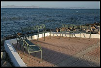 Digital photo titled loreto-seaside-benches