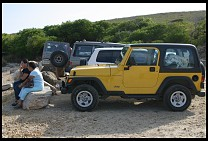 Digital photo titled cabo-rojo-jeep-cell-phone
