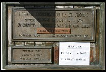 Digital photo titled synagogue-sign