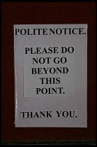 Digital photo titled brecon-cathedral-polite-notice