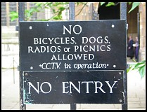 Digital photo titled no-bicycles-dogs-etc