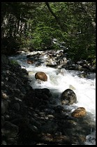 Digital photo titled stream-near-glaciar
