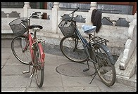 Bicycles outside Antique Market.  Beijing