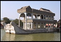 Stone boat. New Summer Palace.  Beijing