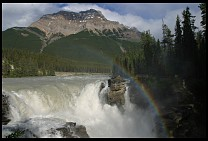 Digital photo titled athabasca-falls-9
