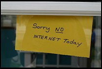 Digital photo titled sorry-no-internet-today-2