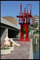 Digital photo titled red-sculpture-and-hilton