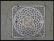 Digital photo titled hirosaki-swastika-manhole
