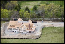 McMansion under construction in Weston, Massachusetts