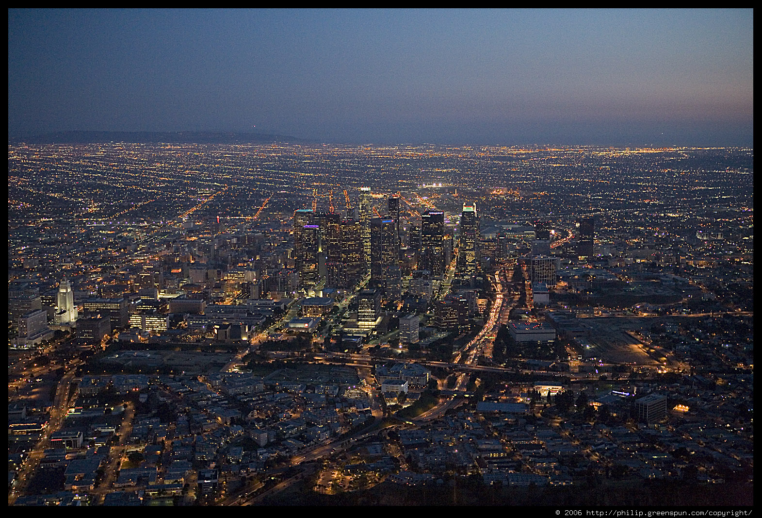 Photograph by philip greenspun la city lights 2 for Is la a city