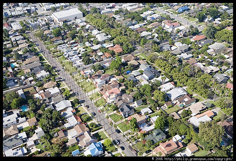 Photograph By Philip Greenspun La Tract Housing Aerial 1