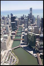 Downtown Chicago and the river