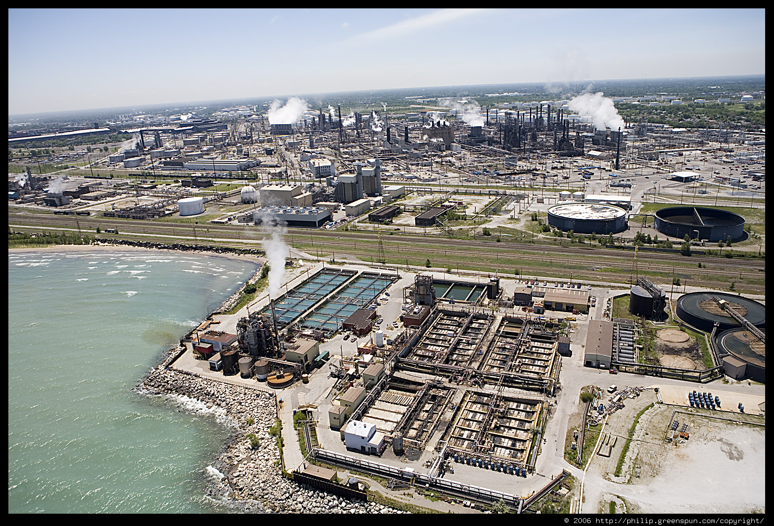 Photograph by Philip Greenspun: gary-indiana-lakefront-aerial-02