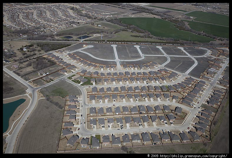 Photograph By Philip Greenspun Dallas Suburbs Tract Housing 2