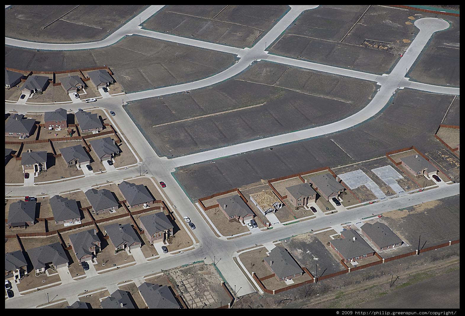Photograph By Philip Greenspun Dallas Suburbs Tract Housing 3