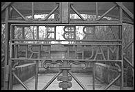 Arbeit Macht Frei.  Gate to Dachau Concentration Camp, just outside Munich, Germany