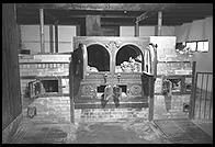 Ovens in Krematorium.  Dachau Concentration Camp.  Just outside Munich, Germany