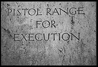 Pistol Range for Execution.  Dachau Concentration Camp, just outside Munich, Germany