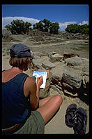 Painter.  Aztec Ruins National Monument.