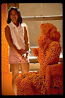 Cheese Doodle sculpture.  Lapides Gallery.  Santa Fe, New Mexico.