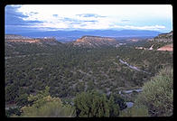 Overlook driving up to Los Alamos, New Mexico.
