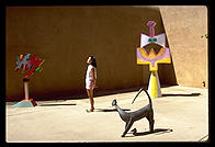 Courtyard.  Lapides Gallery.  Santa Fe, New Mexico.