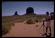 Philip setting up the Hasseblad.  Monument Valley