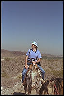 Philip Greenspun on a horse.  Arizona 1989.