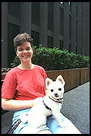 Woman and dog.  Manhattan 1995.