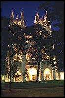 An impressionistic view of the National Cathedral, Washington, D.C.
