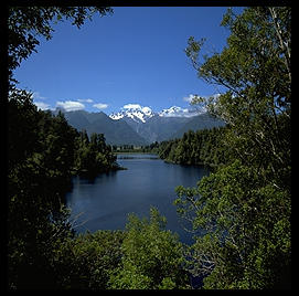 Lake Matheson (with Mt. Cook in background).  South Island, New Zealand.