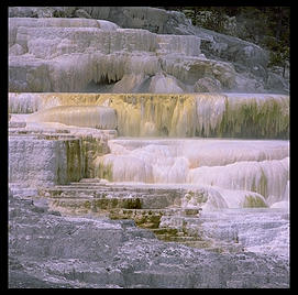 Mammoth Hot Springs.  Yellowstone National Park.