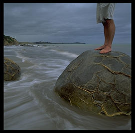 Moeraki Boulder.  South Island, New Zealand.