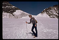 John Lamping in Switzerland (Jungfraujoch).  1983.