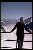 Philip Greenspun in Switzerland (Jungfraujoch).  1983.