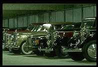 Rolls Royces.  Getty Center underground garage.  Los Angeles, California.